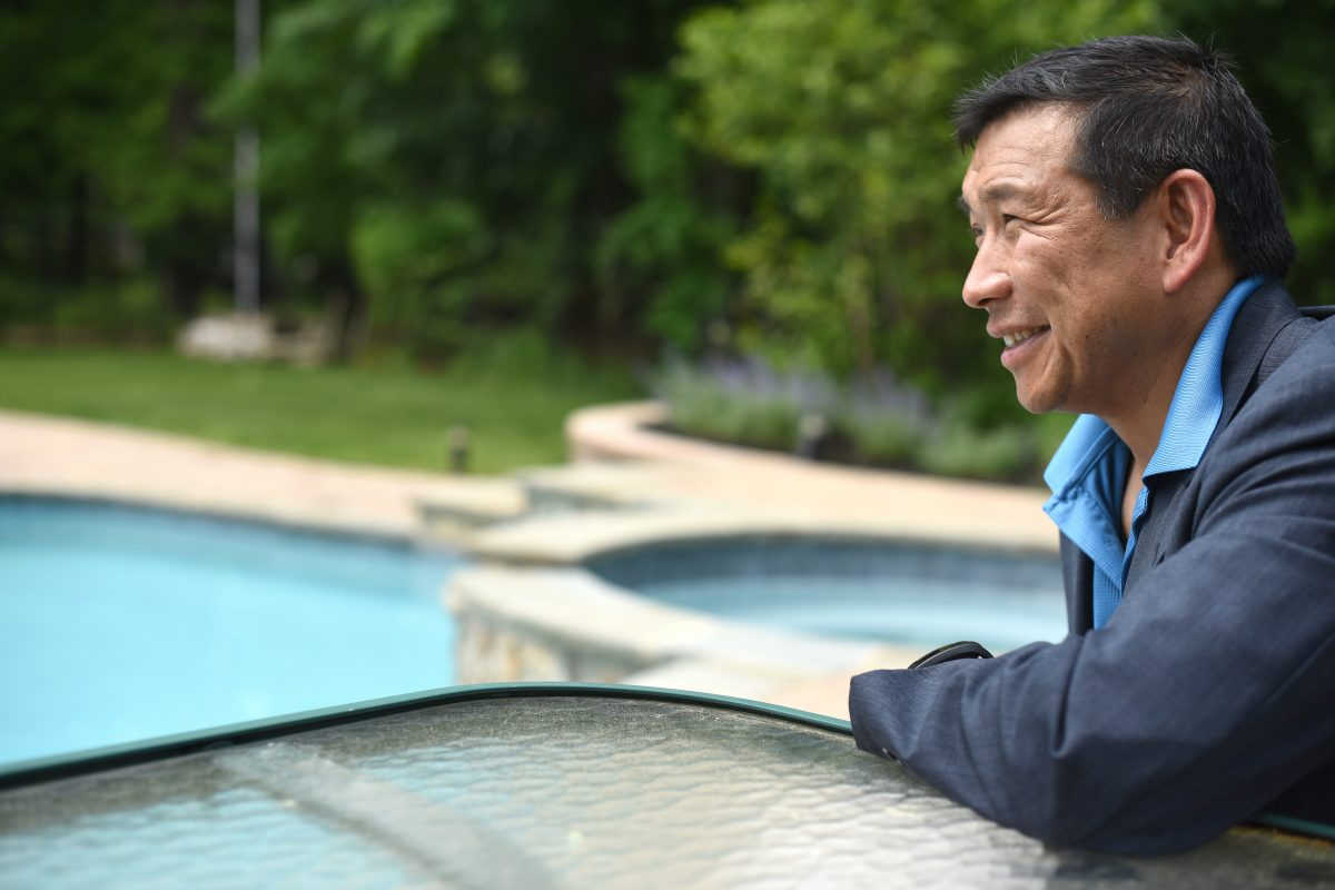 Mark Koide, chief executive of Anthony& Sylvan Pools, at his home in Mendham Township, near Morristown.