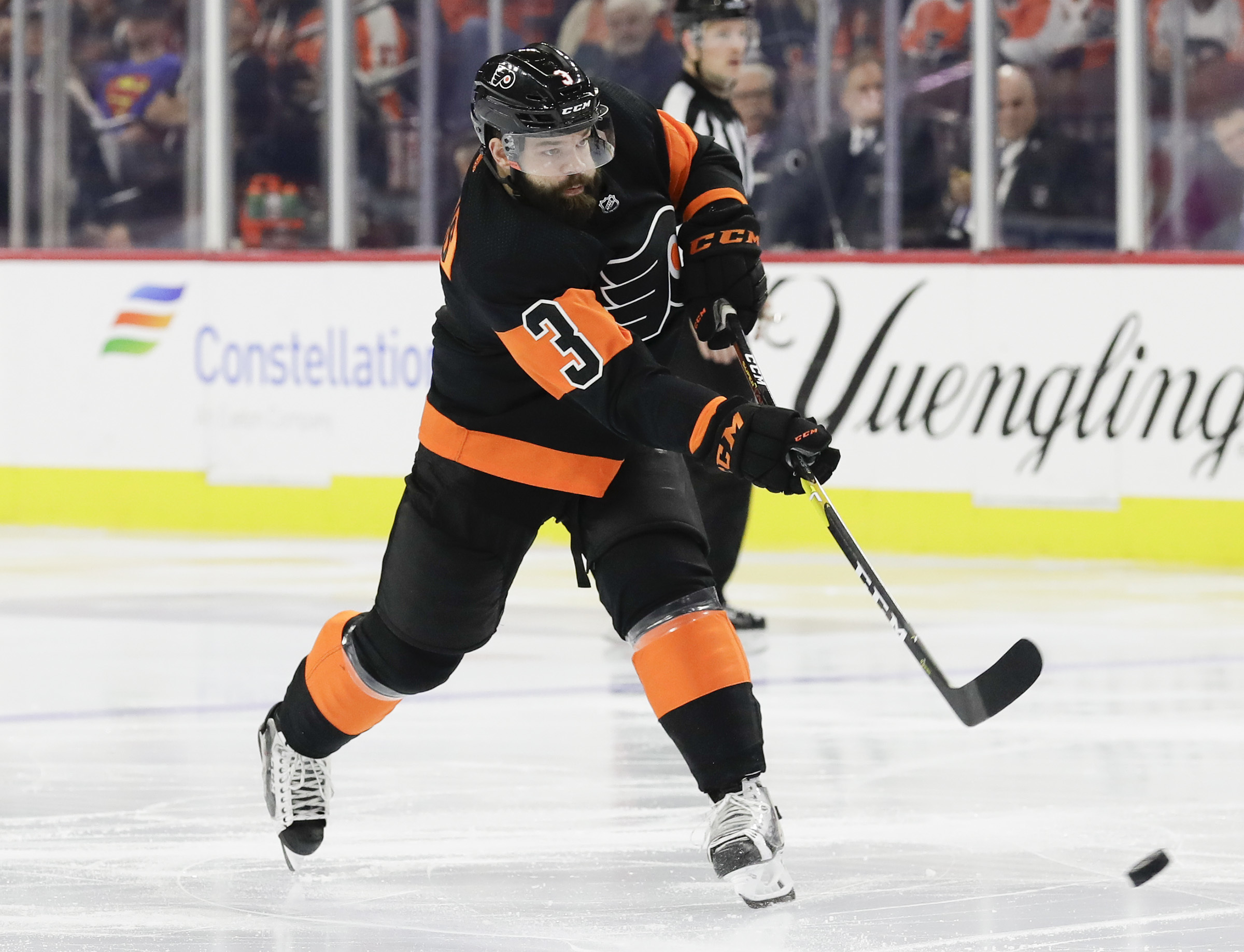 Flyers defenseman Radko Gudas is a plus-5 this season, an indication of his improved play.