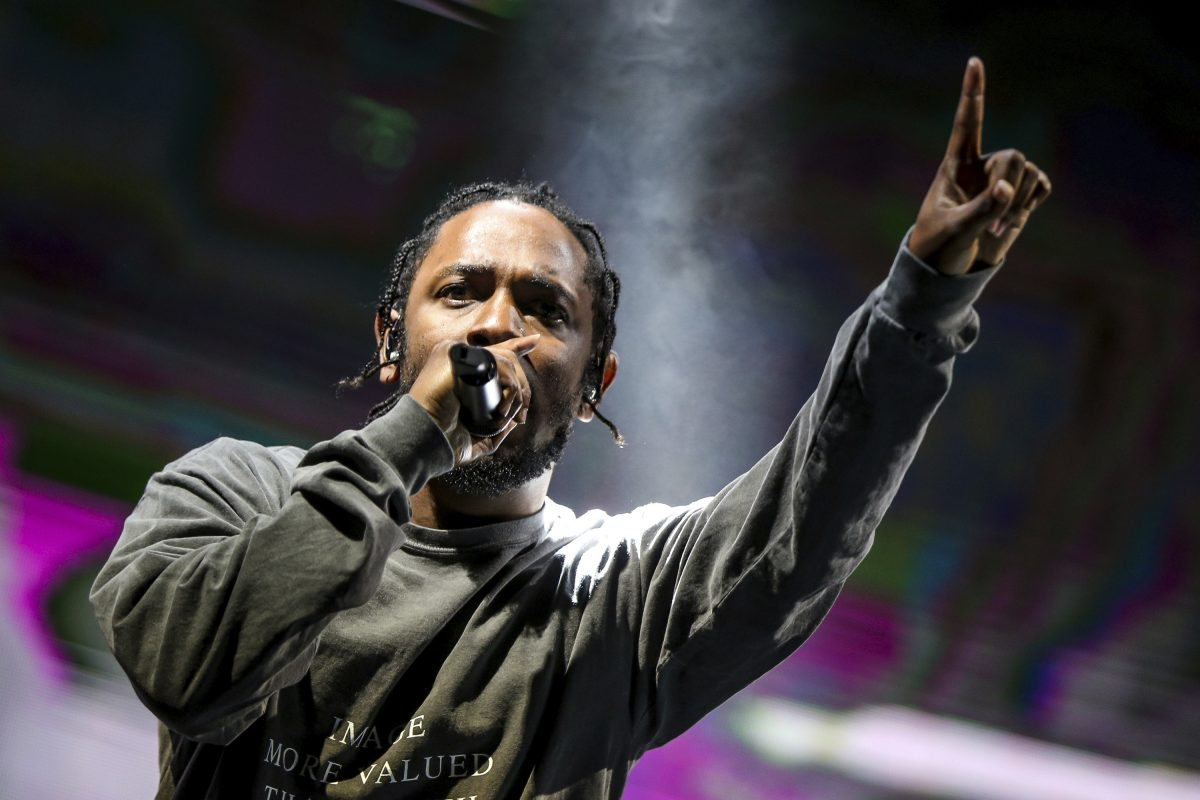 "FILE – In this Aug. 27, 2016 file photo, Kendrick Lamar performs at FYF Fest in Los Angeles. Lamar's third official studio album, ""DAMN."" has sold over 1 million albums in just three weeks, and has spent all three weeks at No. 1 on Billboard's 200 albums chart."