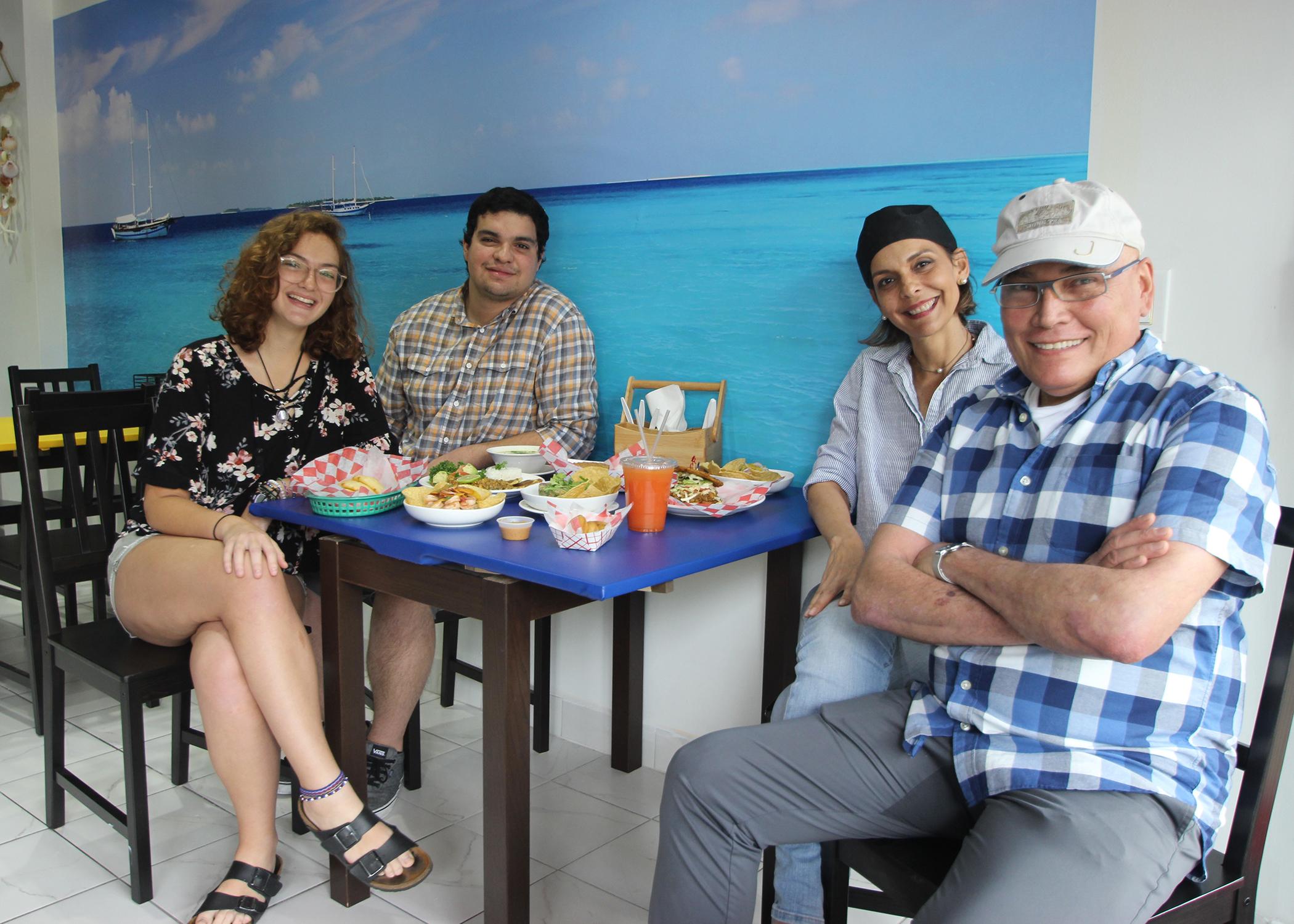 At Pala´a in Ardmore (from left): Jana Brcek Ferreira, Ivan Brcek, Cira Ferreira, and Levi Hernandez.