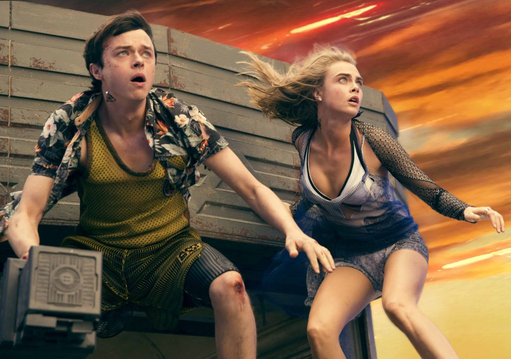 "Dane DeHaan and Cara Delevingne star in ""Valerian and the City of a Thousand Planets."""