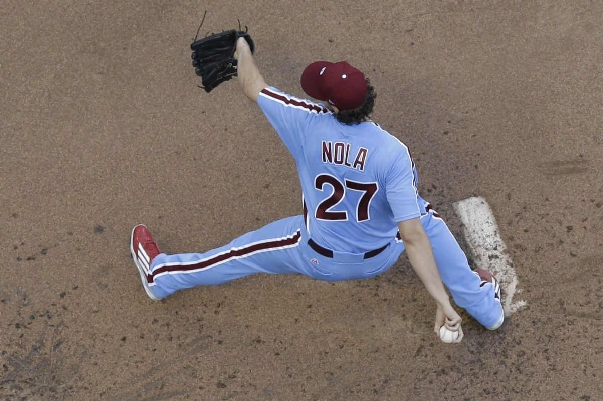 Aaron Nola has struck out at least six batters in each of his last eight starts. He has a 2.65 ERA in that stretch.