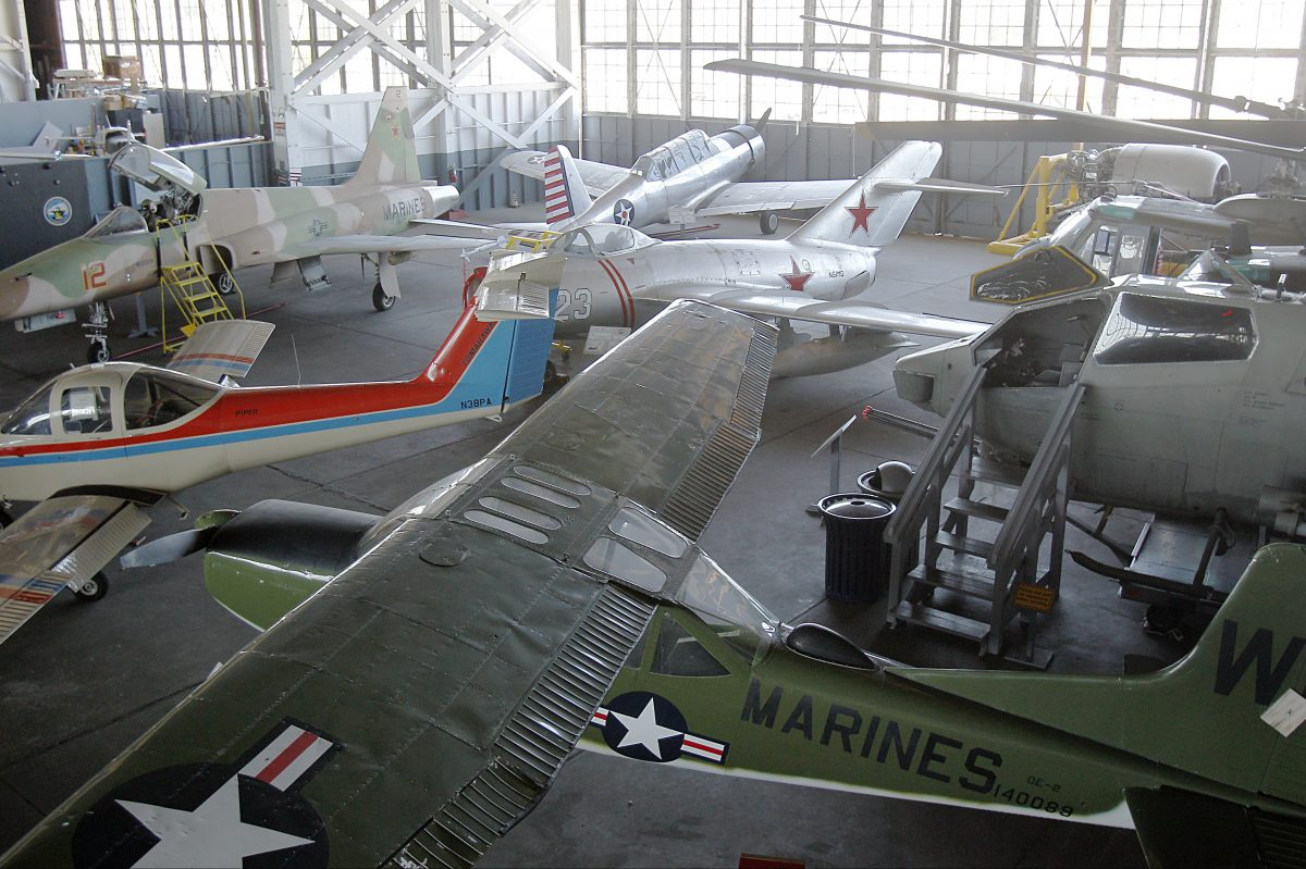 Vintage airplanes at Naval Air Station Wildwood Aviation Museum.