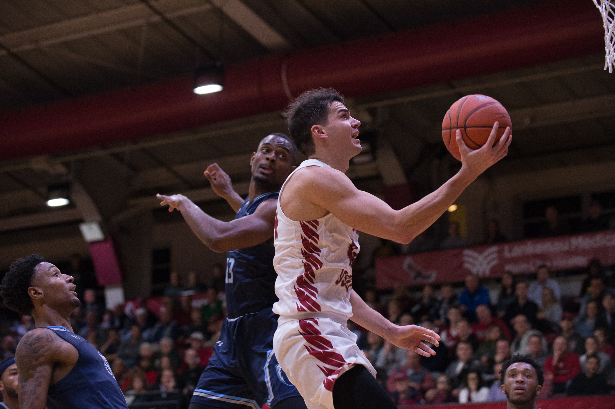 Pierfrancesco Oliva puts up a shot against Old Dominion.