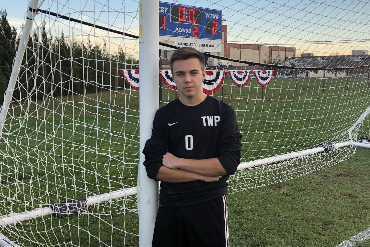 Washington Township soccer goalie Mike Pagano.