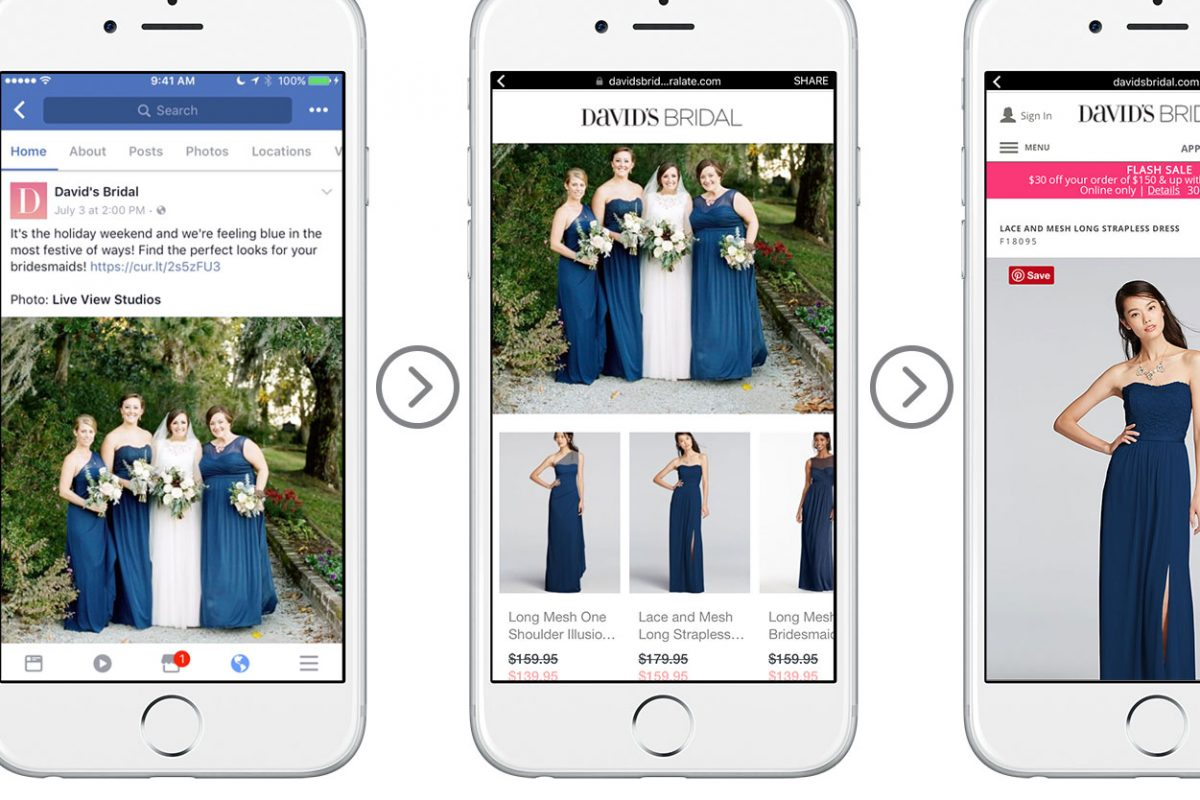 "David's Bridal customers are spending ""102 percent more time"" on a Showroom-enhanced site than on a typical visit to the retailer's mobile site, and clicking on 13 times more products than with a typical social-media post, Curalate says."
