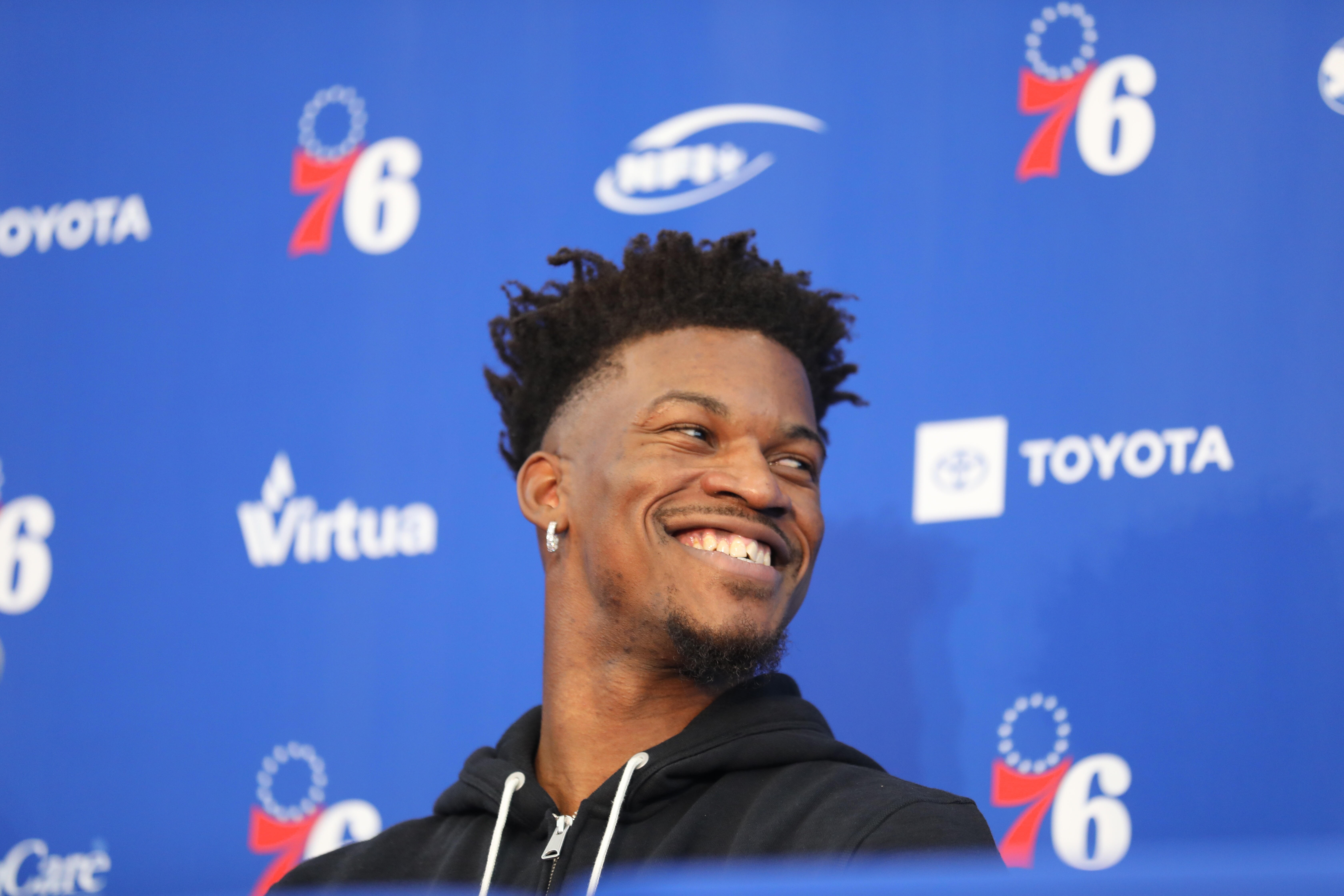 Jimmy Butler at his introductory press conference Tuesday.