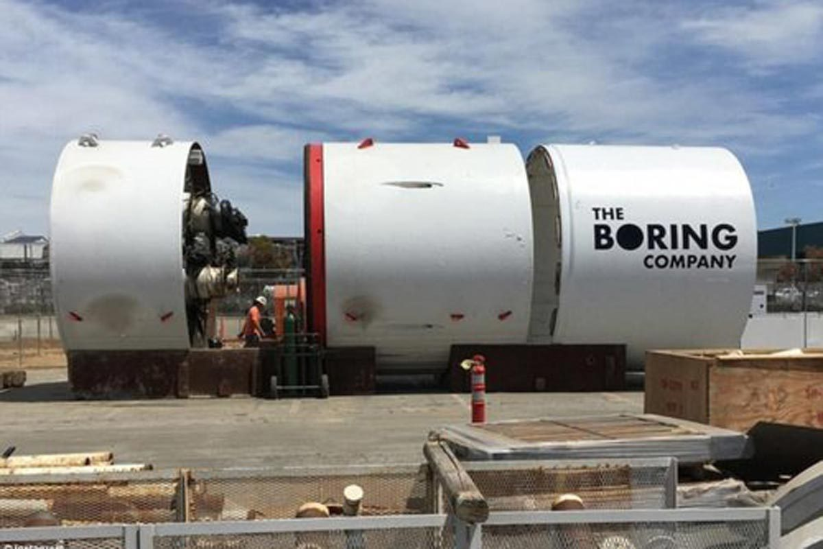 Part of The Boring Company's system to create transportation tunnels.