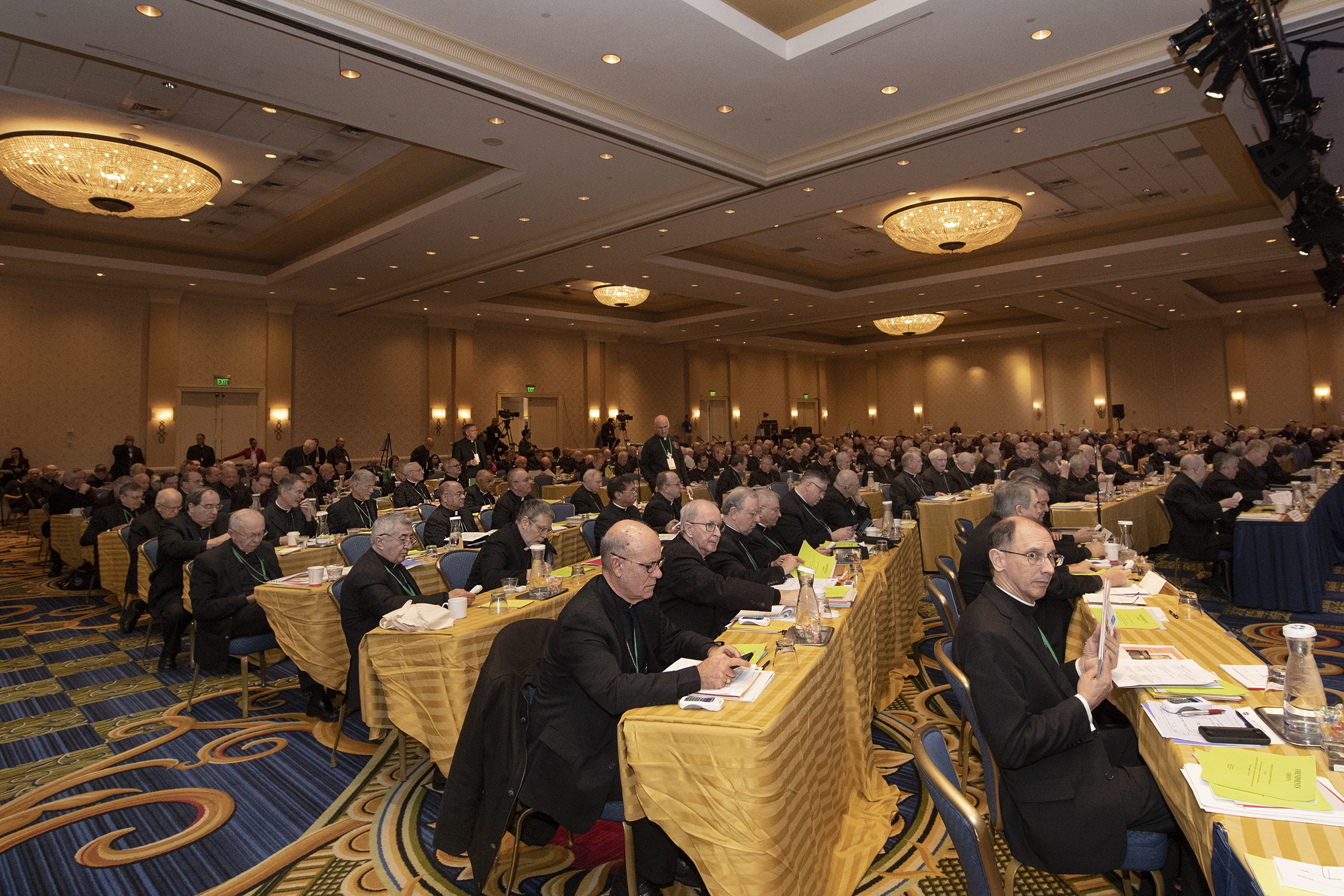 Bishops gathered during the U.S. Conference of Catholic Bishops at the Baltimore Marriott Waterfront on Wednesday.