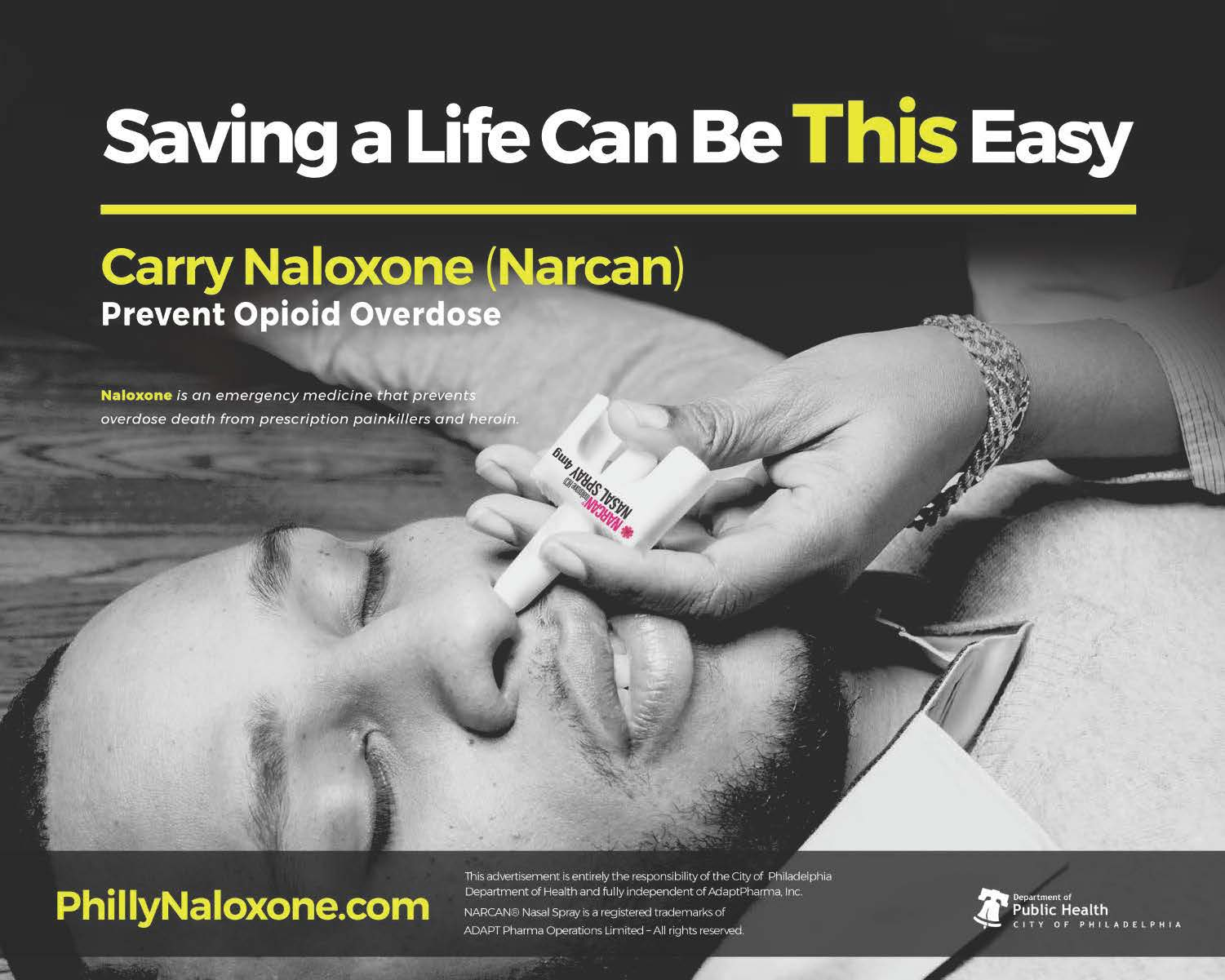 Philadelphia has used billboards and social media to encourage citizens to carry life-saving naloxone
