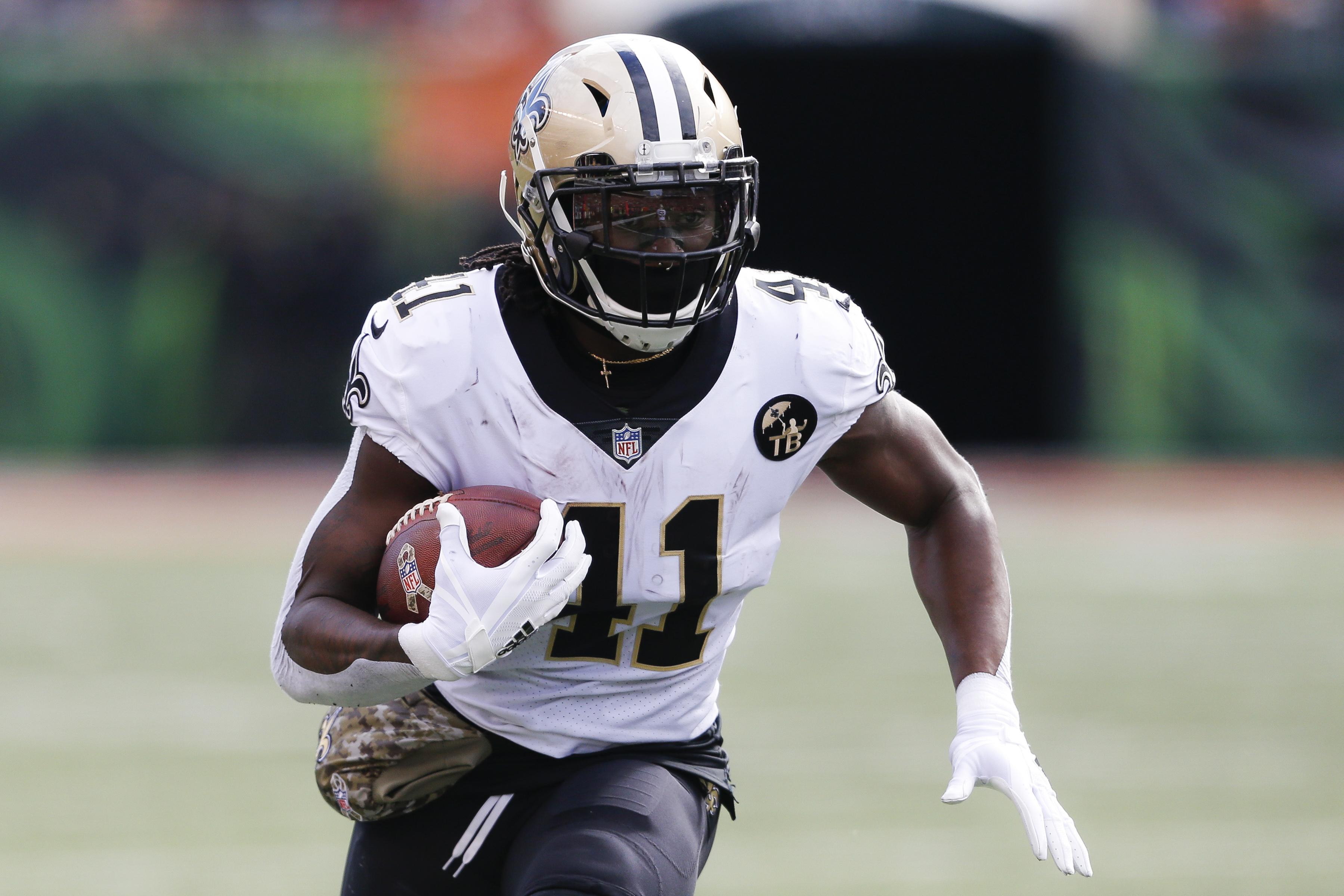 Alvin Kamara has run for 11 touchdowns this season.