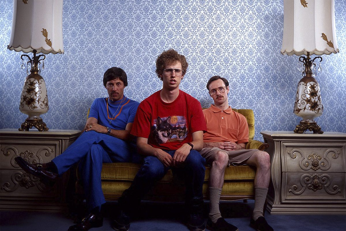 Actor Jon Heder (center) will appear at the Merriam Theater on Sunday, Nov. 18 for a screening of 'Napoleon Dynamite,' followed by a Q&A with the film's stars.