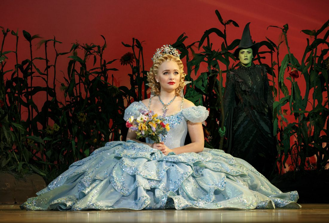 "Amanda Jane Cooper as Glinda the Good Witch in the national touring production of ""Wicked."" She's now stepping up to the Broadway show."