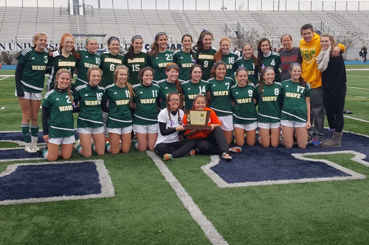 The title is Audubon's first girls soccer title in history.