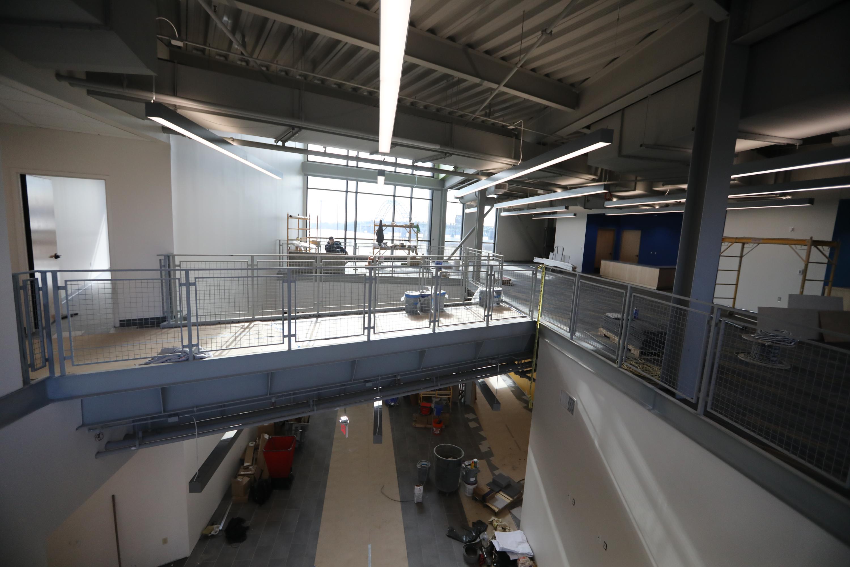 Inside the new MaST II building, still under construction.