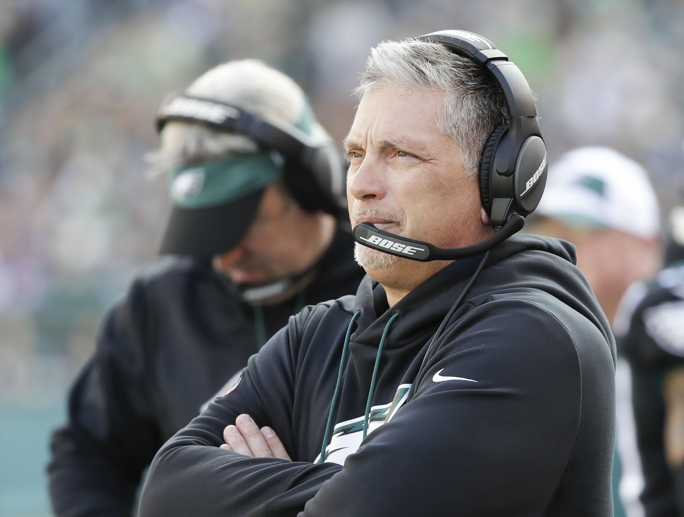 Eagles defensive coordinator Jim Schwartz simplified the game plan in the second half.