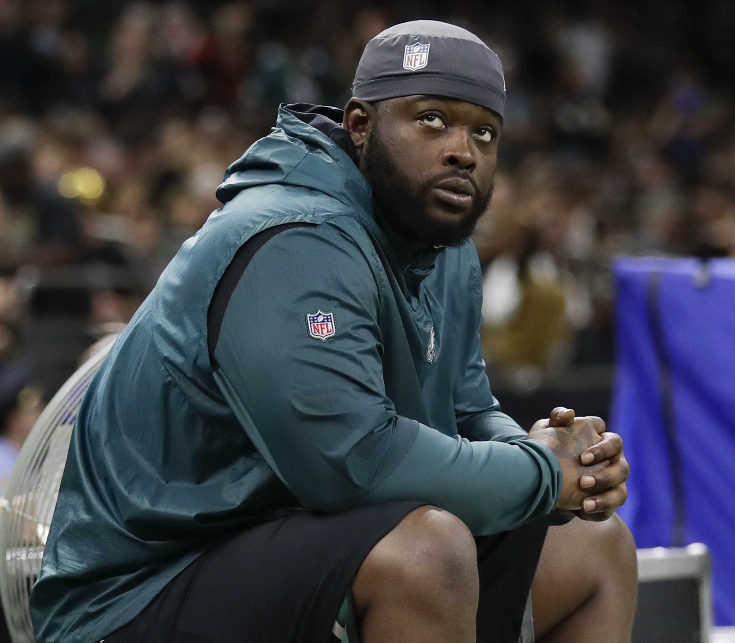 Eagles defensive tackle Tim Jernigan played 20 snaps against the Giants.