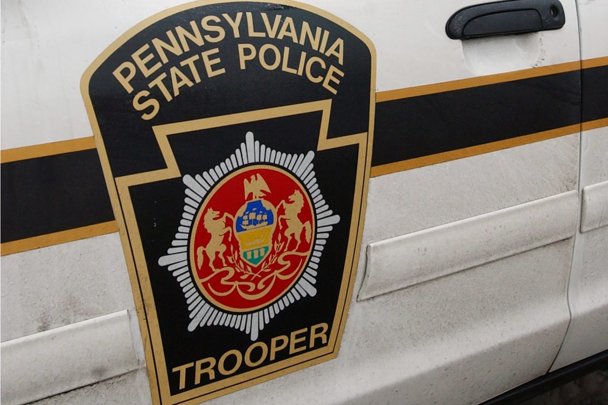 FILE / Pennsylvania State Police decal on side of patrol car.