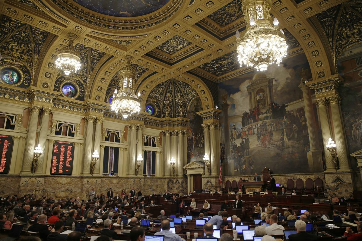 Pennsylvania House chamber in Harrisburg.