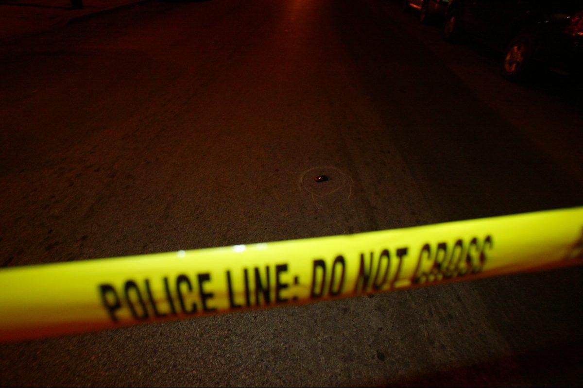 Police tape. Steven M. Falk / Philadelphia Daily News.