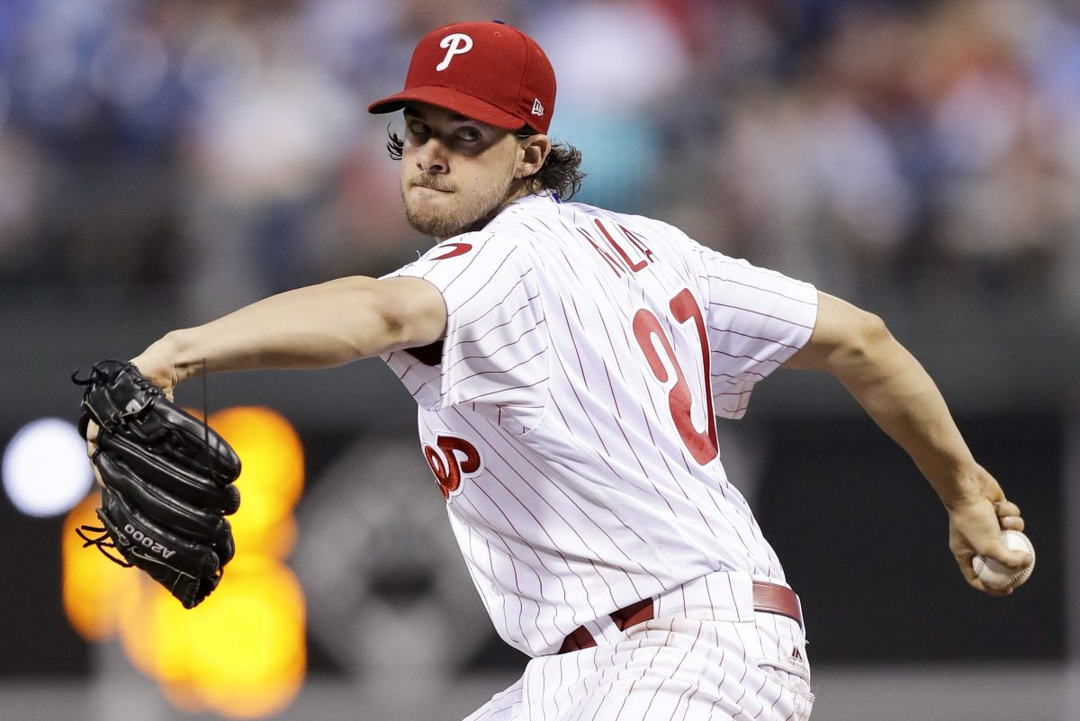 Phillies pitcher Aaron Nola worked on a change-up in the offseason, and now it's paying off.