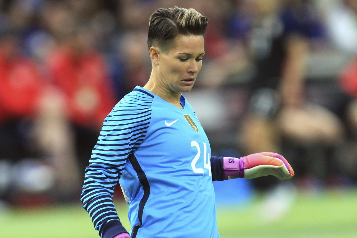 Ashlyn Harris, captains the National Women's Soccer League's Pride and is competing for a starting role with the U.S. national team.