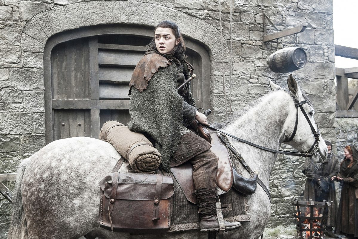 "Maisie Williams as Arya Stark in a scene from the July 23, 2017, episode of HBO´s ""Game of Thrones"""
