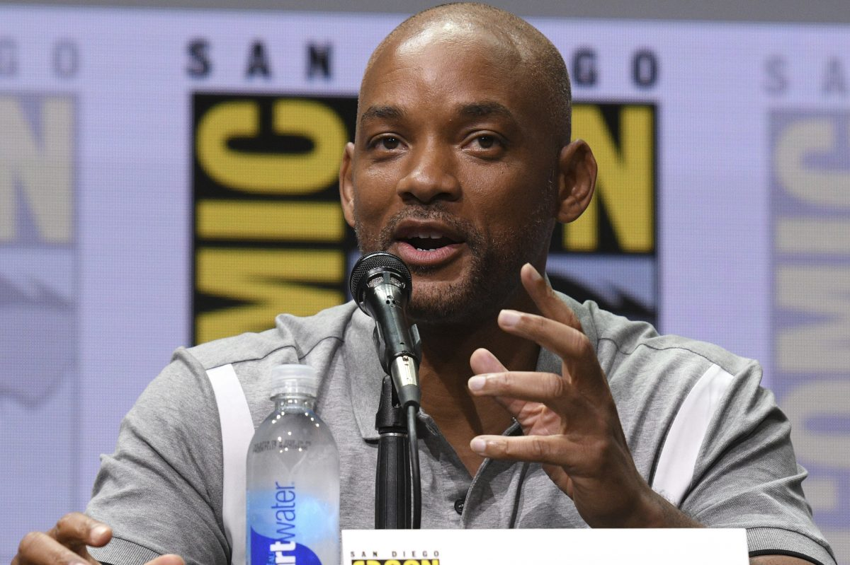 """Will Smith speaks at the Netflix Films´ """"Bright"""" panel on day one of Comic-Con International on Thursday, July 20, 2017, in San Diego."""
