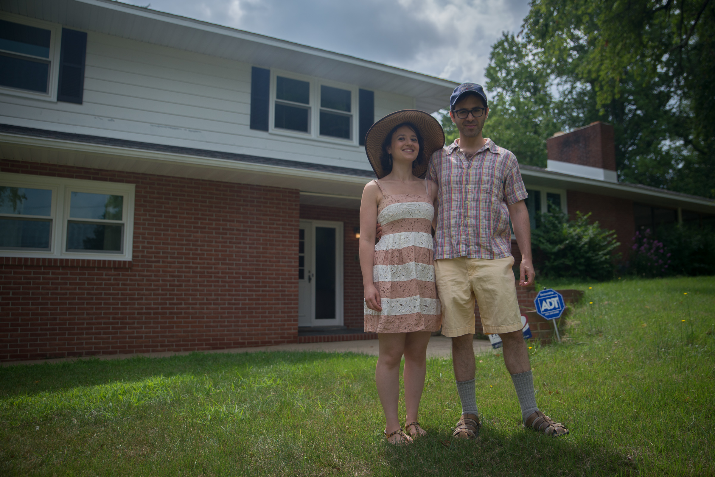 William and Malya Levin at the homestead of the Alliance Colony ´reboot´ in Pittsgrove, NJ. The house belonged to his grandparents.