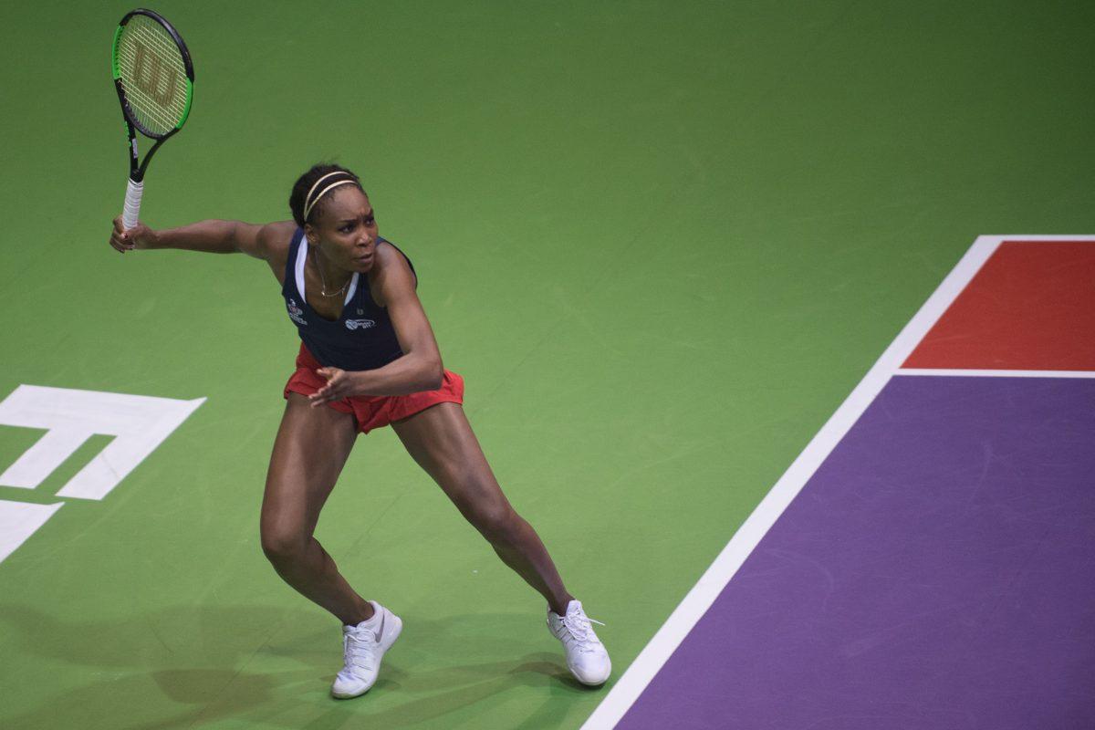 Venus Williams played three sets for the Washington Kastles Monday.