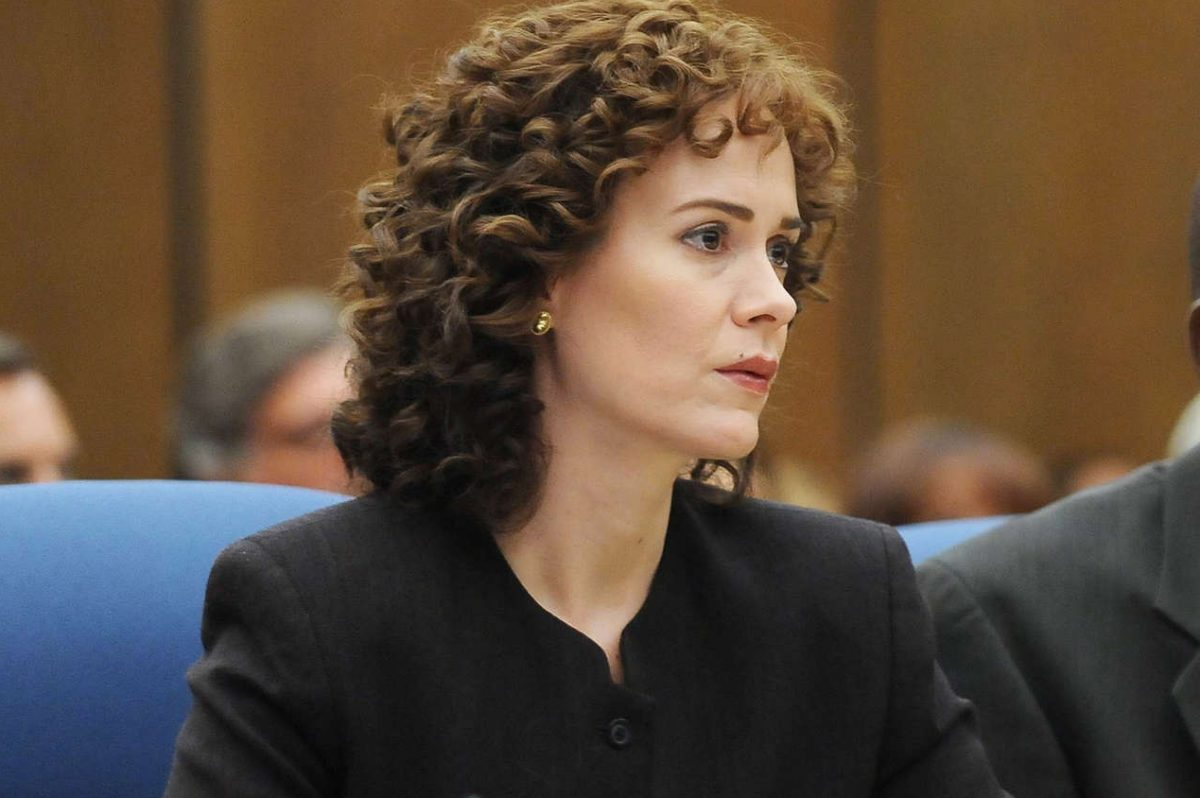 "Sarah Paulson as Marcia Clark in ""The People v. O.J. Simpson: American Crime Story."""