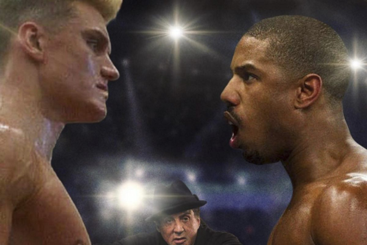 A composite image posted to Sylvester Stallone's Instagram account shows Dolph Lundgren as Ivan Drago from 'Rocky IV' facing off against Michael B. Jordan as Adonis Creed from 'Creed.' Stallone has been hinting at a showdown between the two for about a month now.