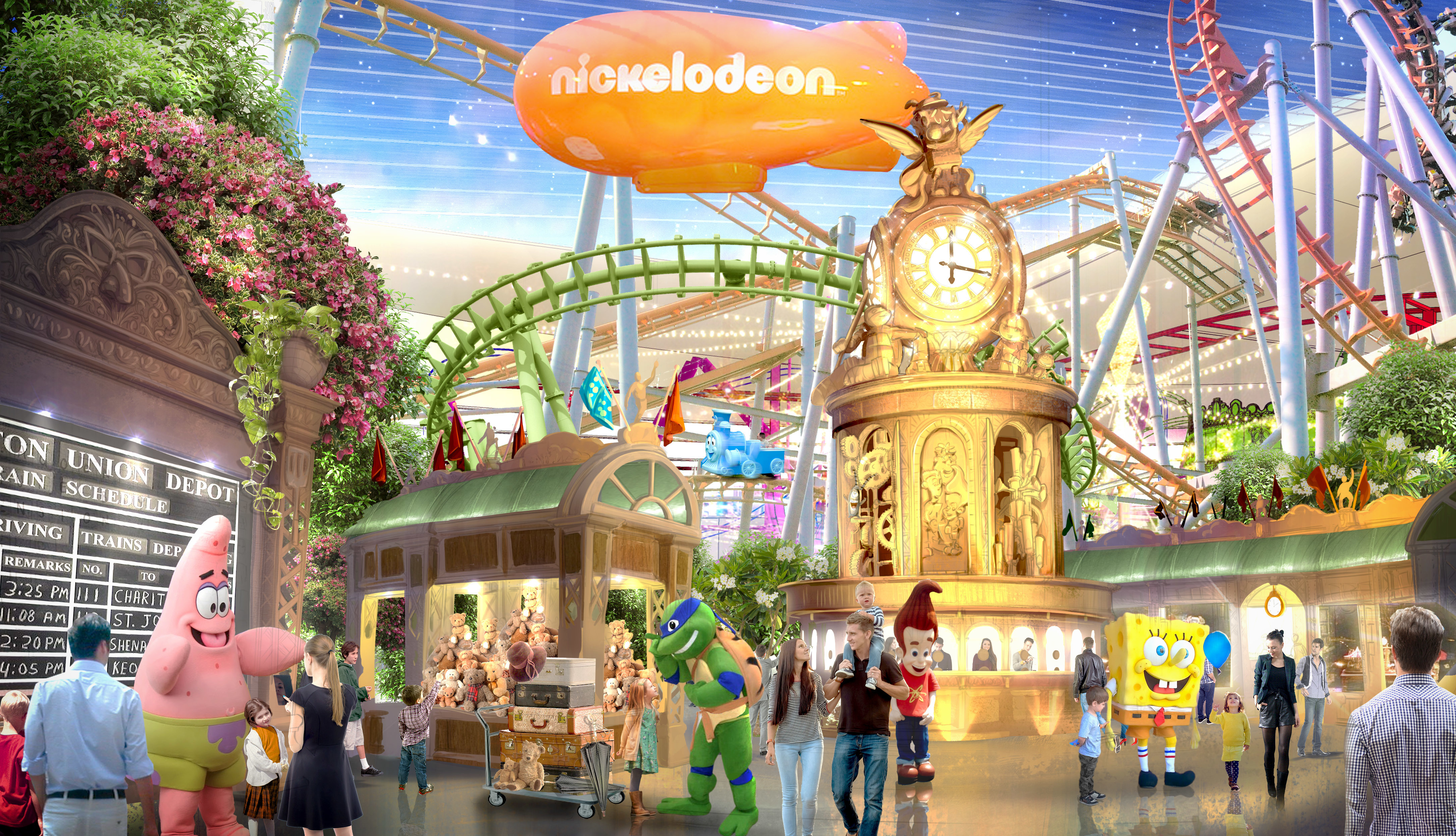The $5 billion American Dream Mall represents the next wave of Super Malls that look more like amusement parks than shopping centers. Here one of its premiere draws will be the Nickelodeon Center for families and kids.