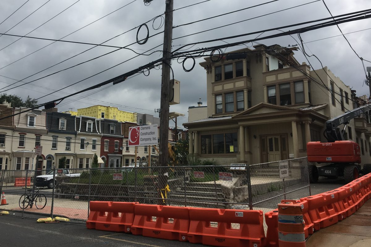 Another Victorian house in Spruce Hill is being ripped apart. This one is at 41st and Sansom.