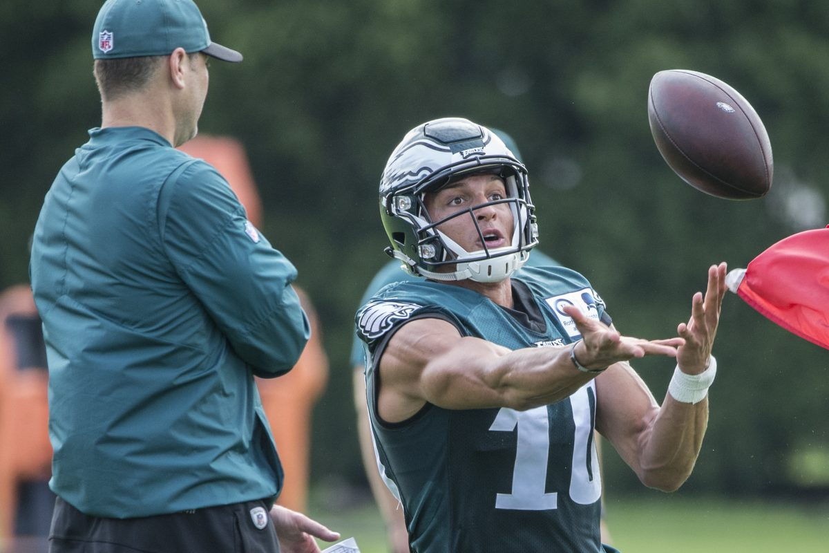 Wide receiver Mack Hollins is trying to catch on with the Eagles.