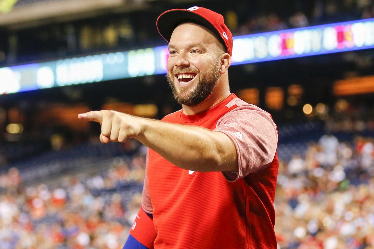 Phillies catcher Cameron Rupp adopted his first dog 10 years ago from the SPCA.