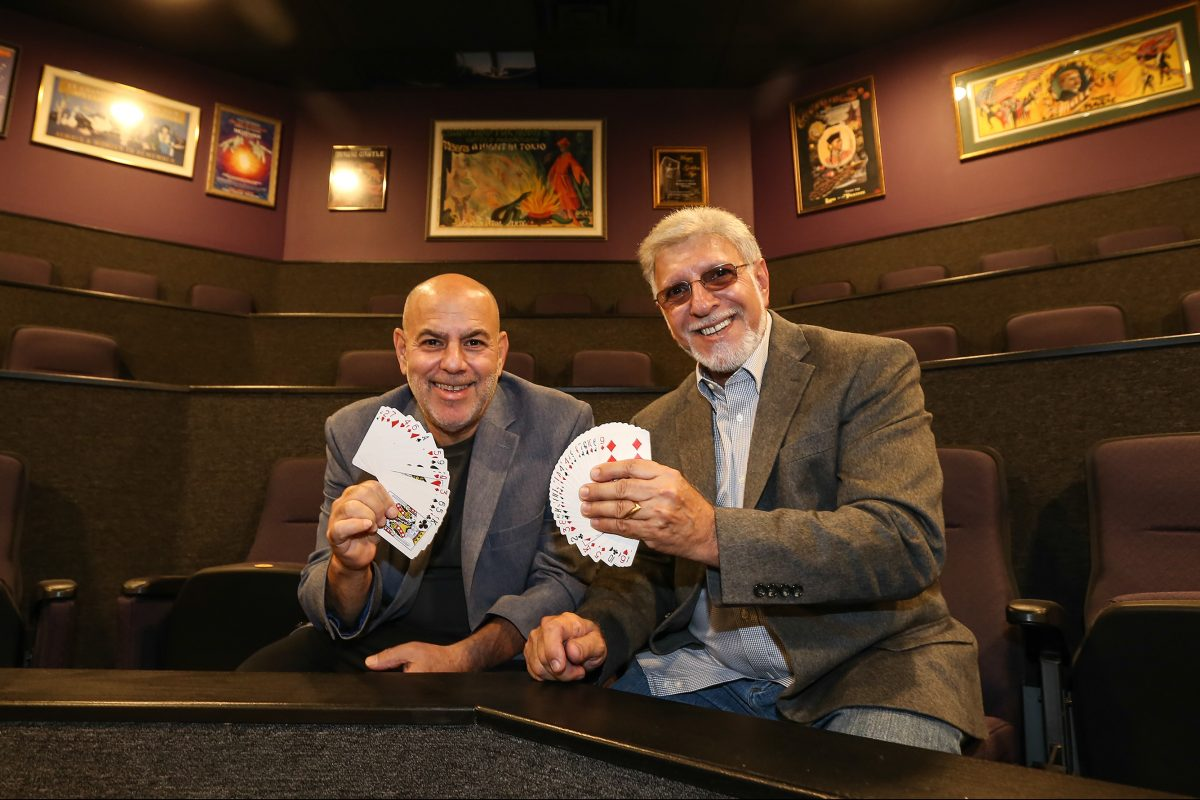 Danny Archer (left) and Marty Martin are opening the Smoke and Mirror Magic Theater in Huntingdon Valley.