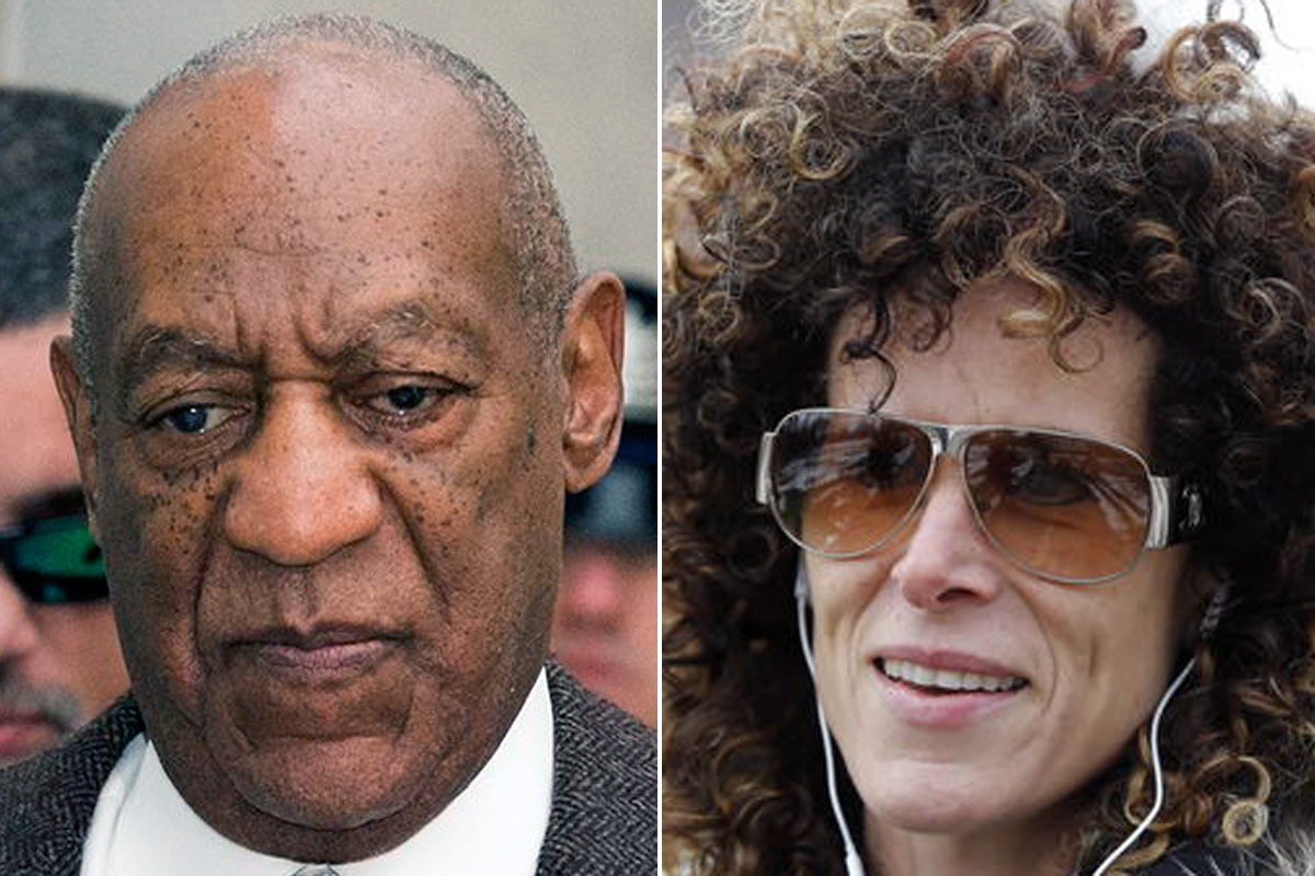 Bill Cosby (left), Andrea Constand (right)
