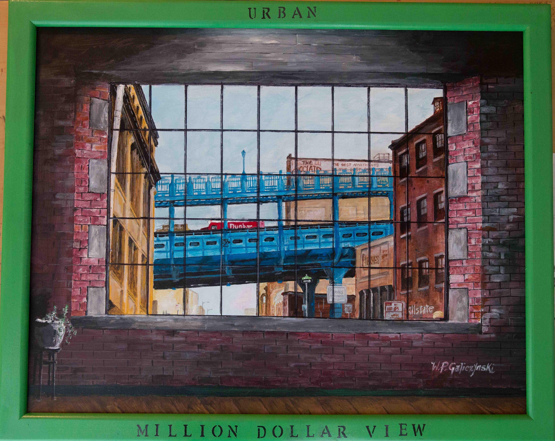 "Painting by Paul Galiczynski titled ""Million Dollar View"""
