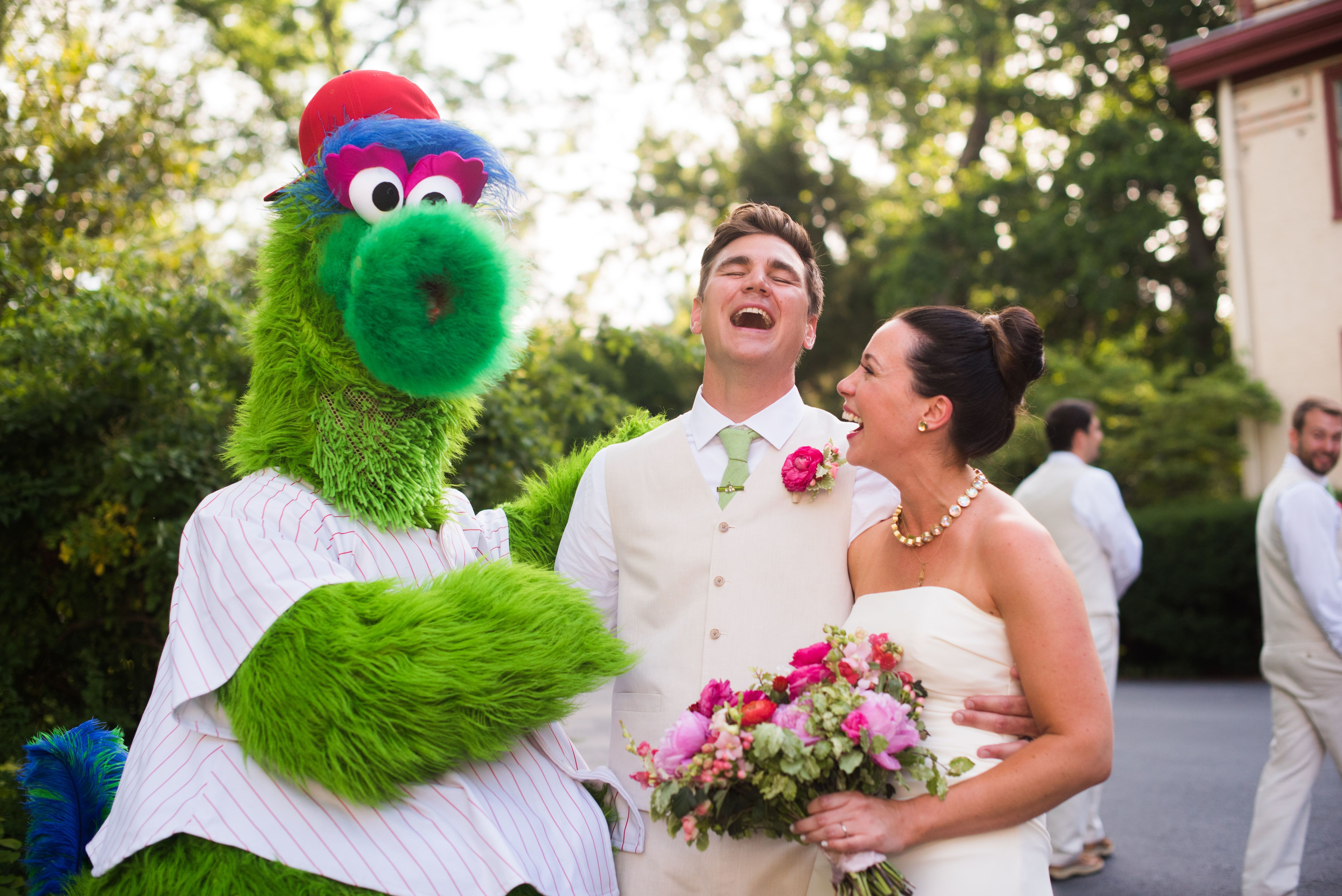 Justina Calgiano and Ted Meyer and the Phanatic.