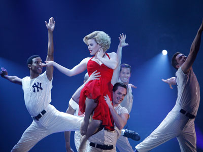 DM1TV04 , SMASH -- Pilot -- Pictured: (center) Megan Hilty as Ivy  Bell -- Photo by: Will Hart/NBC