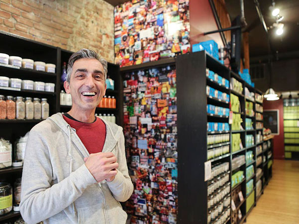 "Steve Duross, owner of duross & langel, in the store on South 13th Street. When talking about his product, he says ""It´s about being proud."""