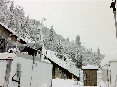 A new study in the journal Science found snowfall in the Sierras was influenced by dust and microbes from as far away as Africa. (AP Photo/Jessie Creamean/NOAA)