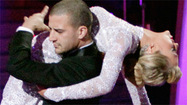 Mark Ballas and Chelsea Kane smolder on the ballroom floor.