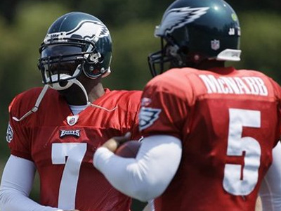 Donovan McNabb said that he hopes teammate Michael Vick gets a chance to play elsewhere next season. (file photo)<br />