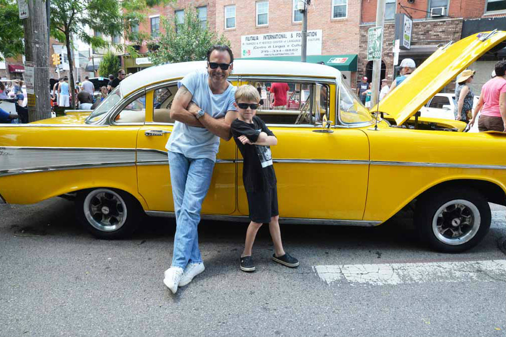 Frank and Cassius fans at the 9th Annual East Passyunk Car Show held Sunday, July 27, 2014.