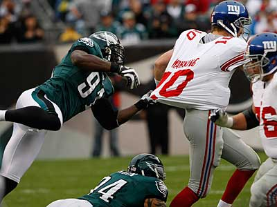 The Eagles´ defense did a great job against Eli Manning and the Giants. ( Michael S. Wirtz / Staff Photographer )