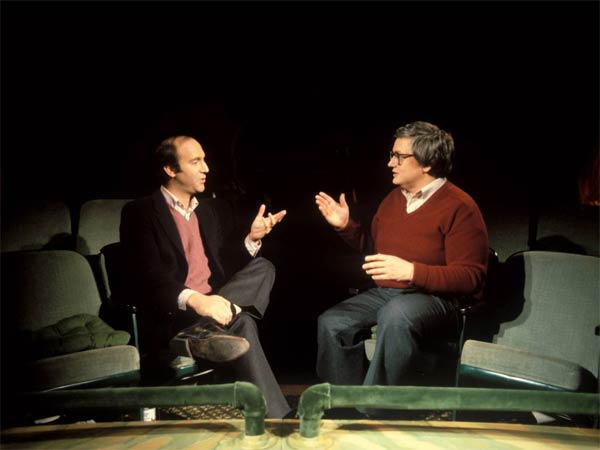 "This undated photo released by Magnolia Pictures shows film critics Gene Siskel, left, and Roger Ebert used in the documentary ""Life Itself."" (AP Photo/Magnolia Pictures, Kevin Horan)"