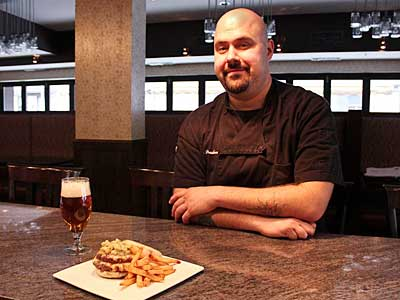 Chef Eric Paraskevas at Bainbridge Street Barrel House.   MICHAEL KLEIN
