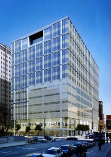 A rendition of the proposed  $200 million Family Court building, planned for 15th and Arch Streets.